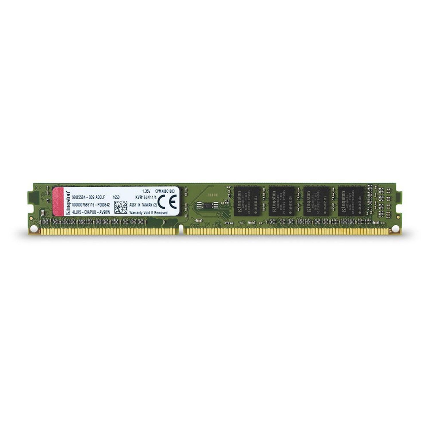 Kingston ValueRAM 4GB 1600MHz DDR3L Non-ECC 240 Pin CL11 DIMM PC Memory Module