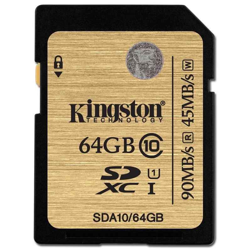 Kingston 64GB Ultimate SD Card (SDXC) - 90MB/s