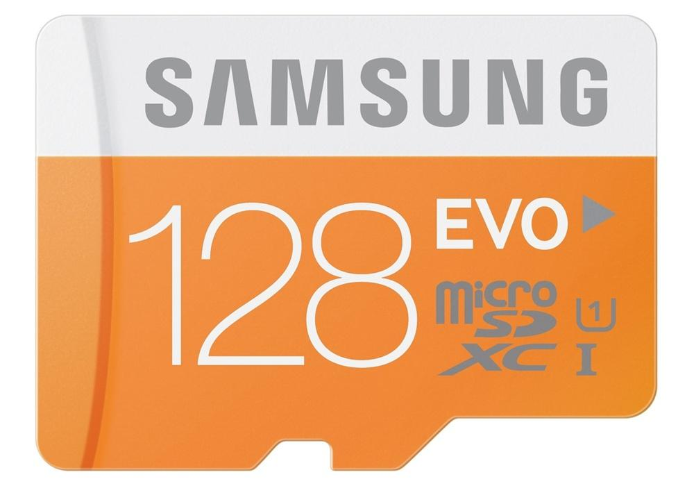 Samsung 128GB EVO Micro SD Card (SDXC) + Adapter - 48MB/s