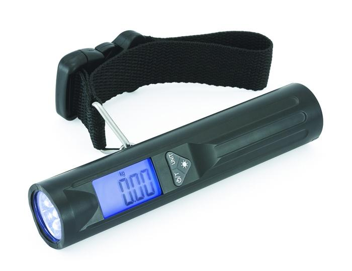 Digital Portable Travel Luggage Scale with 8 LED Torch