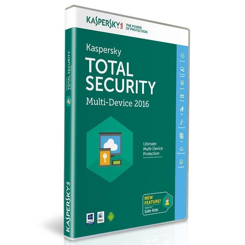 Kaspersky Total Security 2016 - 3 Devices - 1 Year for PC/Mac/Android