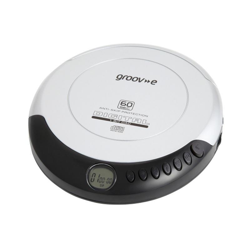 Groov-e Retro Series Personal CD Player - Silver