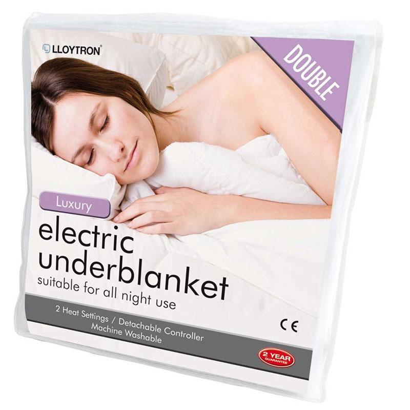 Lloytron Luxury Washable Dual Heat Control Electric Underblanket - Double