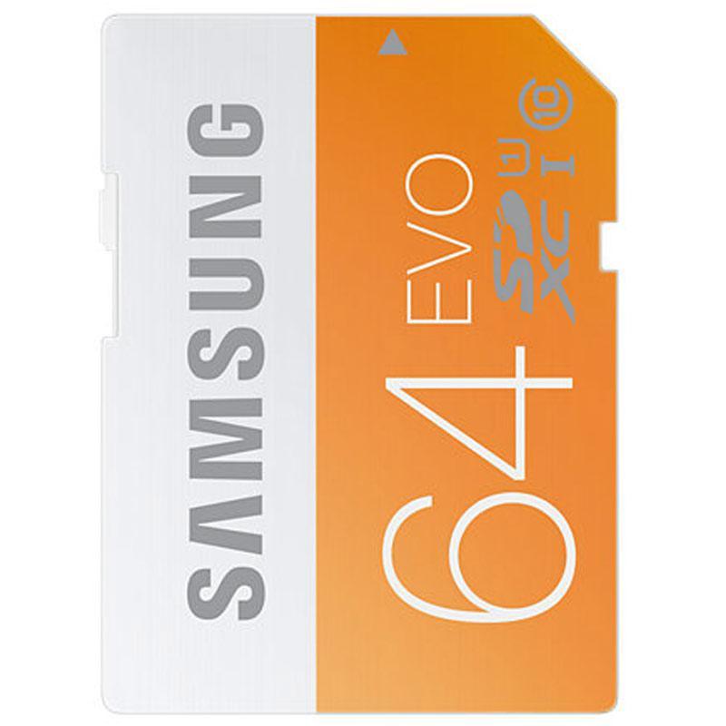 Samsung 64GB EVO SD Card (SDXC) - 48MB/s
