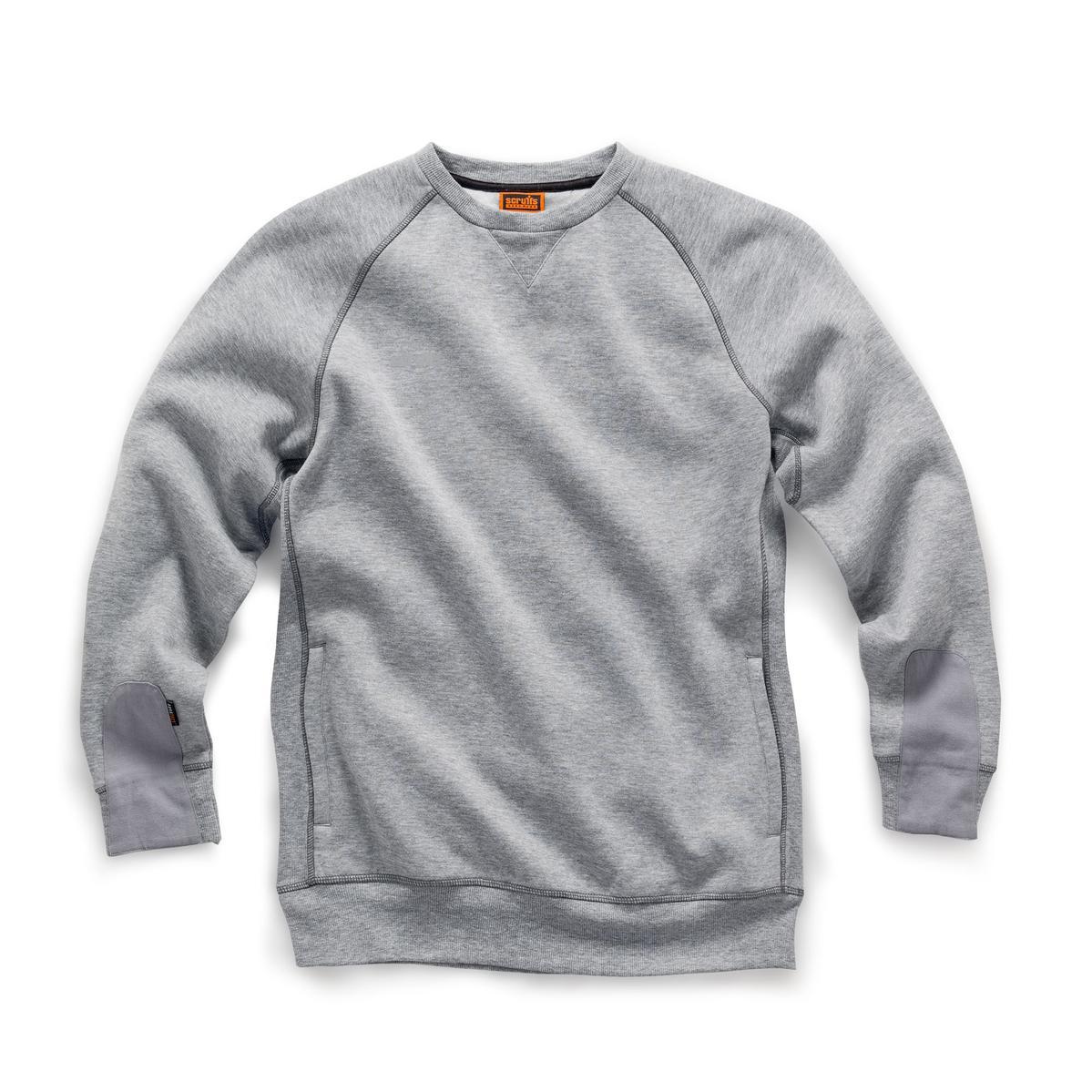 Scruffs Trade Sweatshirt Grey Marl SMALL