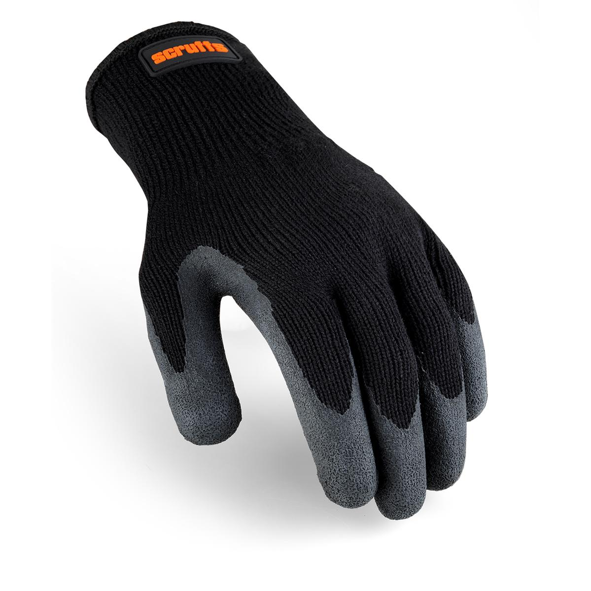 Utility Black Latex Coated Glove