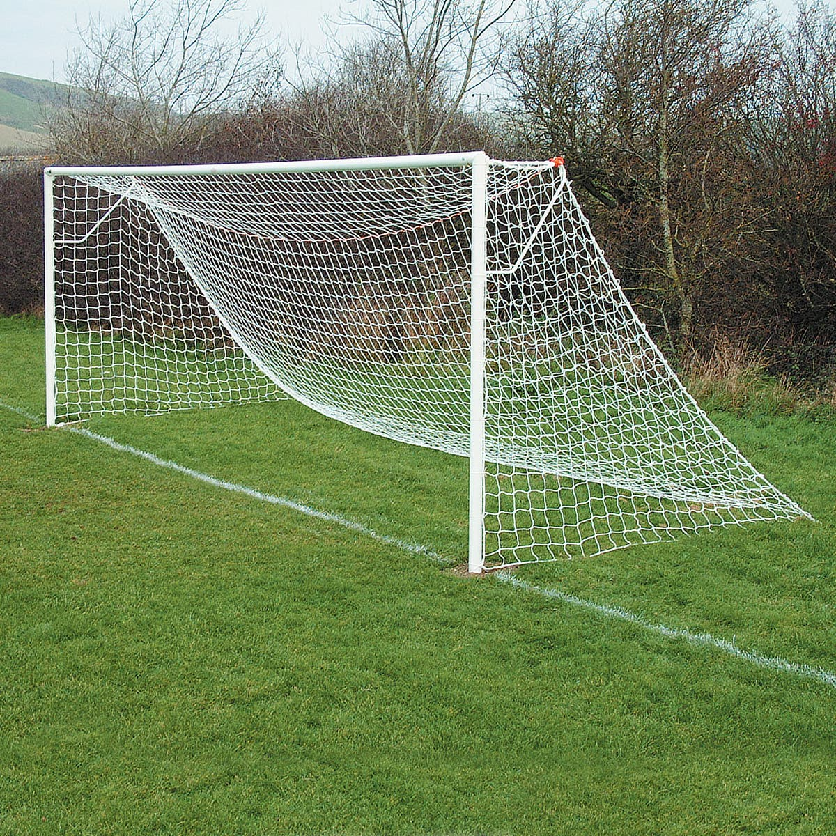 Image for Socketed Steel Football Goal Posts - 21' x 7'
