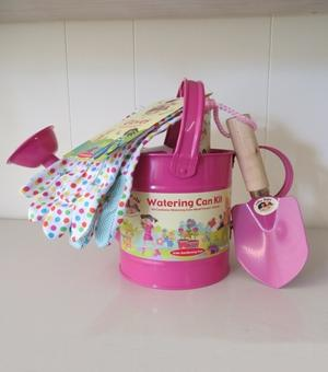 Children's Watering Can Kit Pink