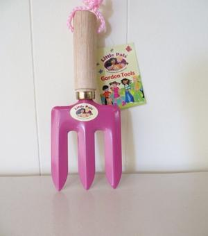 Children's Hand Fork Pink