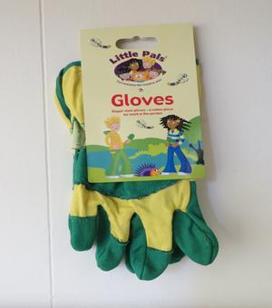 Little Pals Gartenhandschuhe fuer Kinder in grun/ gelb