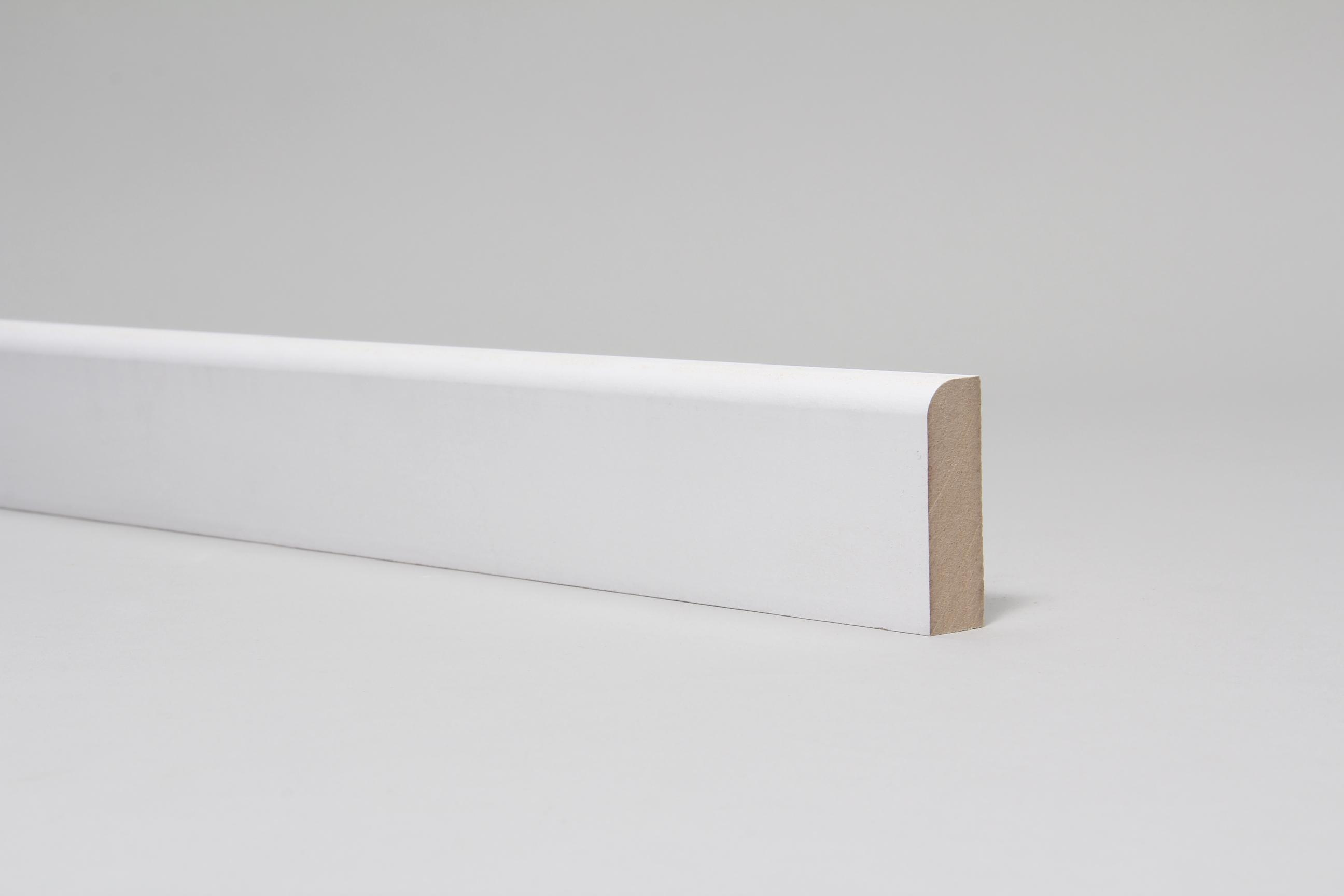 Rounded One Edge 18mm x 57mm Architrave Set Primed Set