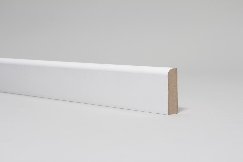 Image for Rounded One Edge 18mm x 57mm Architrave Set Primed Set