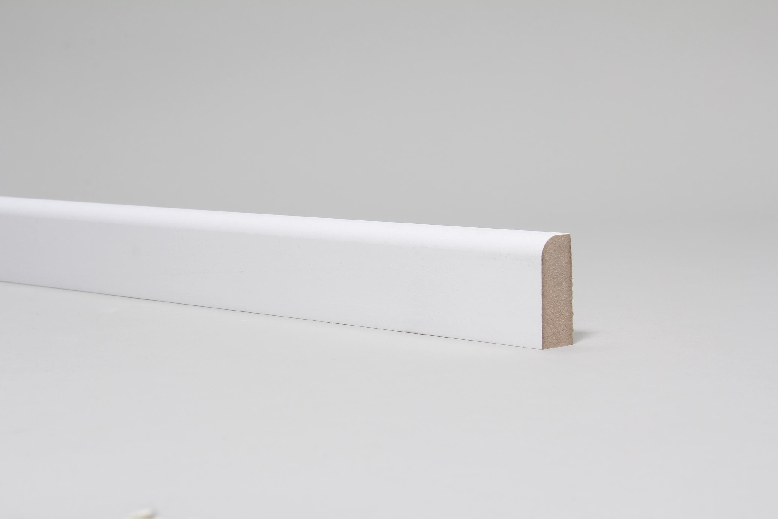 Rounded One Edge 18mm x 44mm Architrave Set Primed Set