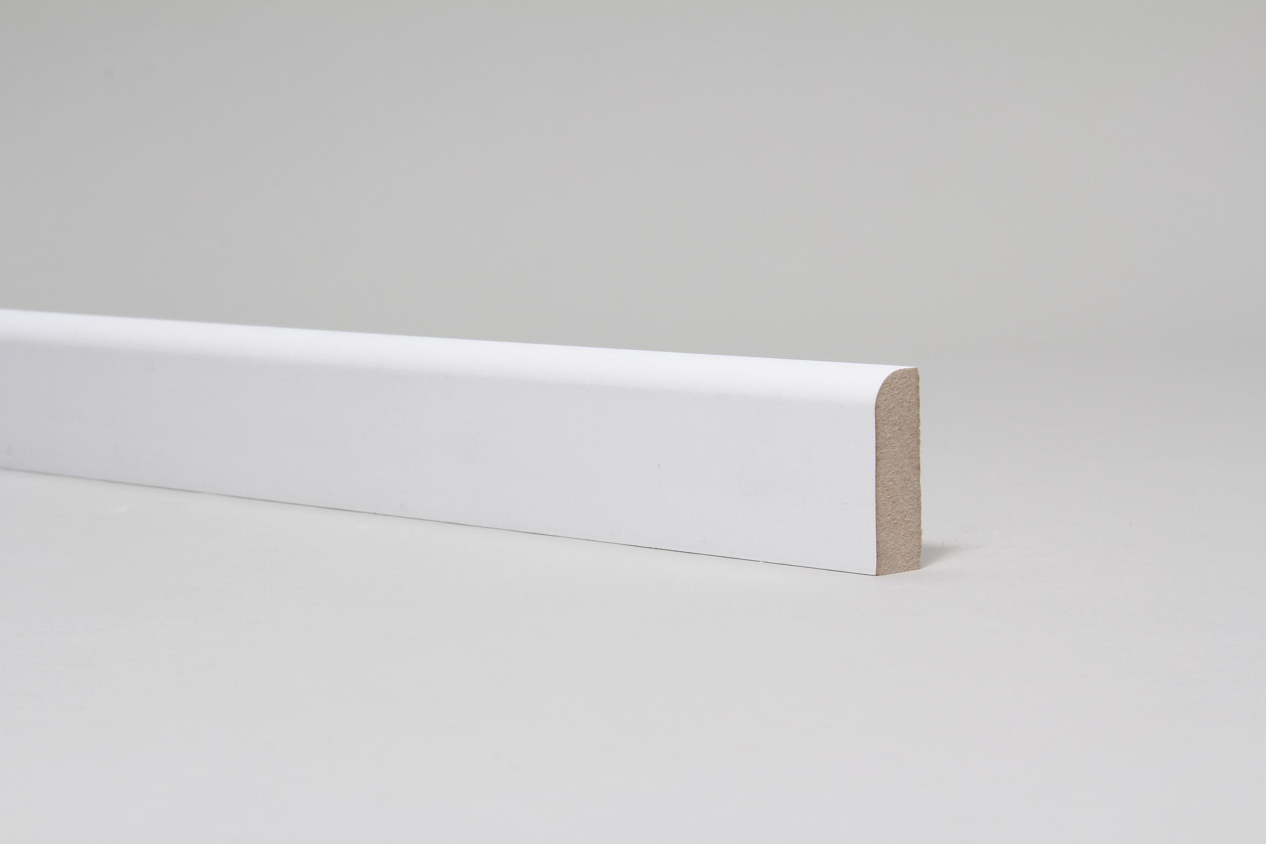 Rounded One Edge 15mm x 44mm Architrave Set Primed