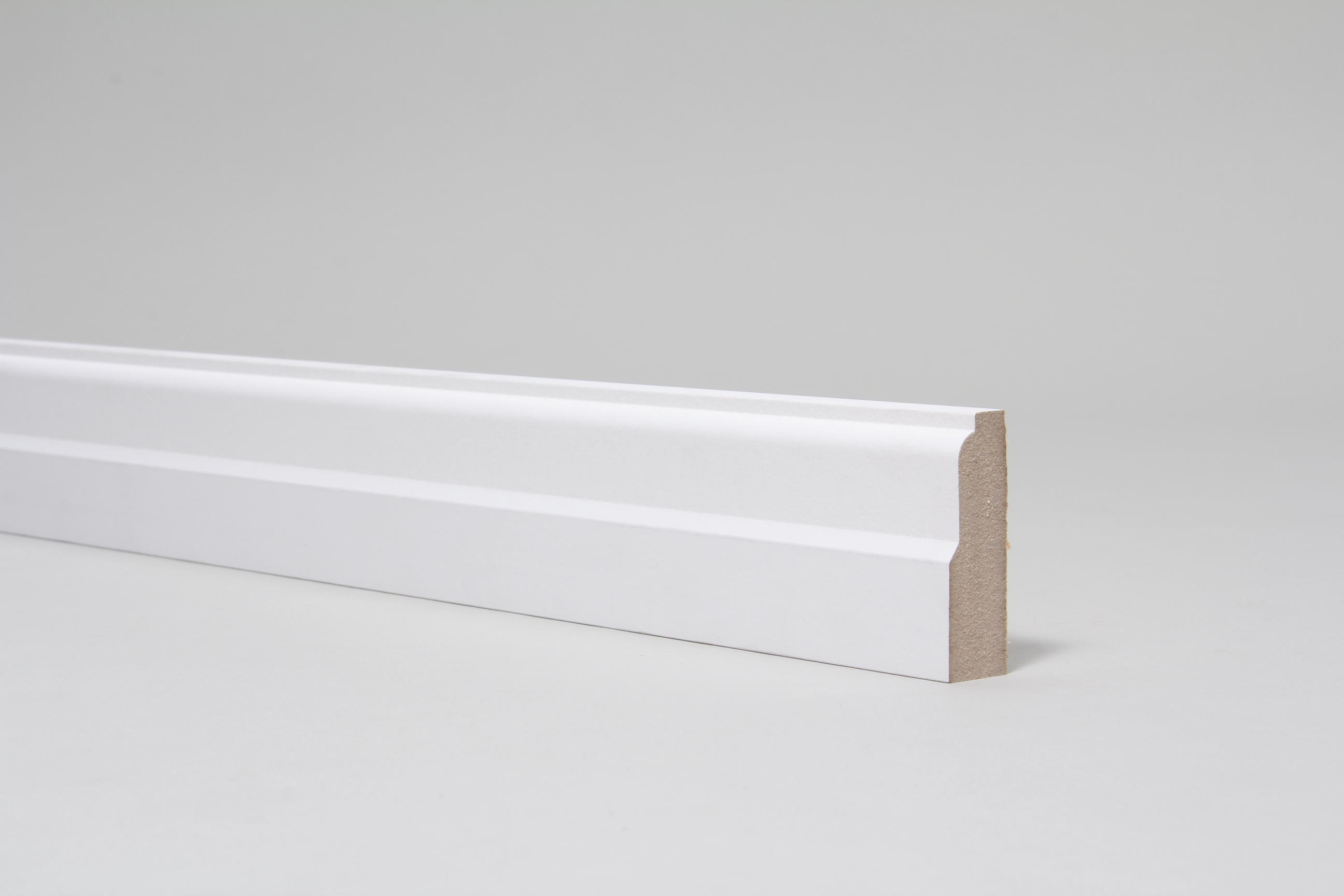 Lambs Tongue 18mm x 57mm Architrave Set Primed