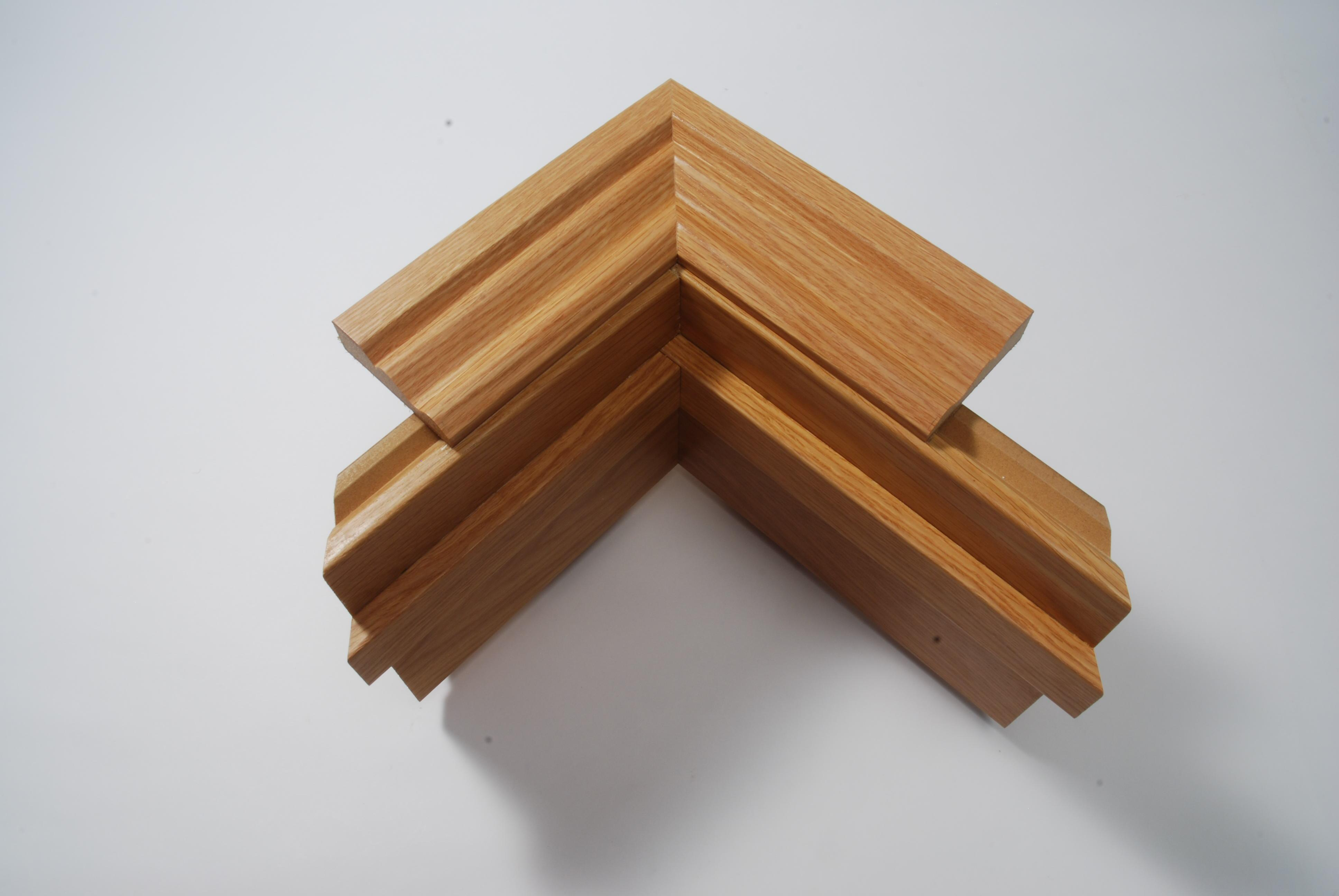 Fire Fully Adjustable Door Lining Set 30mm x 88 - 155mm Veneered American White Oak (Special Offer)