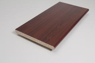Image for Window Sill  22mm x 200mm x 5.000m Mahogany Foil Wrapped MR Chipboard