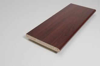 Image for Window Sill  22mm x 180mm x 5.000m Mahogany Foil Wrapped MR Chipboard