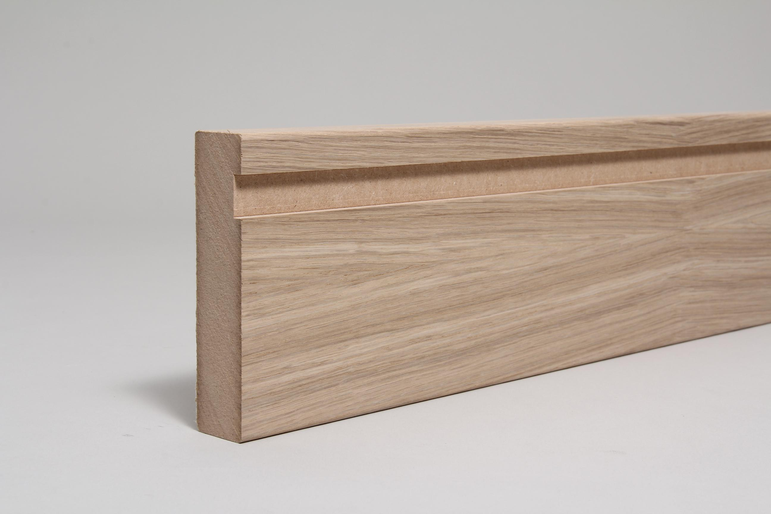 Fire lining set 25mm x 100mm veneered american white oak for 100mm door stop