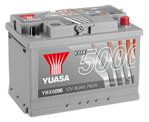 YBX5000 Silver High Performance SMF Batteries