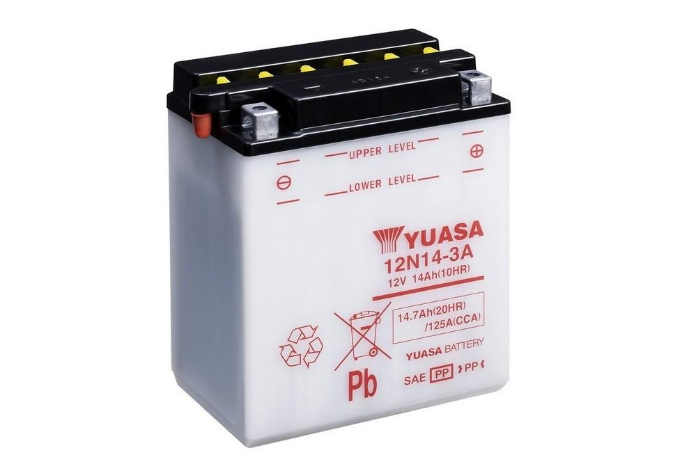 12n14 3a Conventional 12 Volt Motorcycle Power Sport Batteries