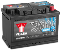 YBX9000 AGM Batterien