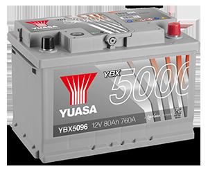 YBX5000 Batterie Silver SMF ad alte prestazioni