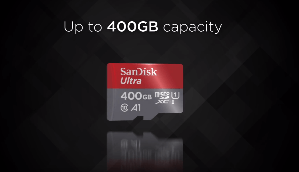 SanDisk announce a 400GB micro SD card
