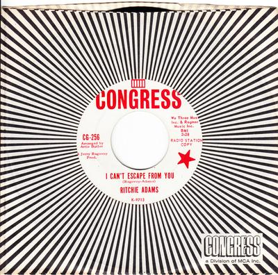 Ritchie Adams - I Can't escape From You / Road To Nowhere - Congress CG 256 DJ