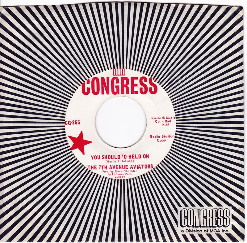 7th. Avenue Aviators - You Should 'O Held On /Boy Next Door - Congress CG 255 DJ