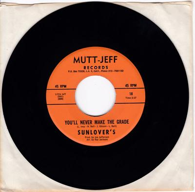 Sunlovers - You'll Never Make The Grade / This Love Of Ours - Mutt & Jeff 18