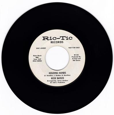 Rose Batiste - Holding Hands / That's What He Told Me - Ric-Tic RT-105 DJ