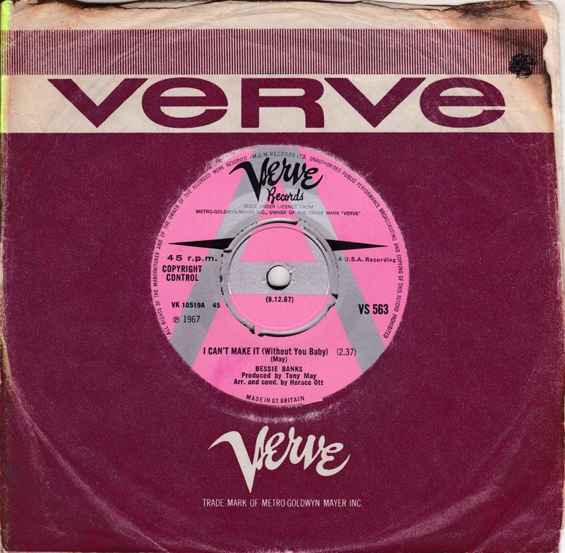 Bessie Banks - I Can't Make It (Without You Baby) / Need You - Verve VS 563 DJ
