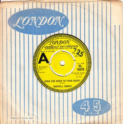 Darrell Banks - Open The Door OF Your Heart / Our Love ( Is In The Pocket ) - London HL 10070 DJ