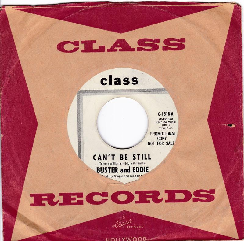 Buster & Eddie - I Can't Be Still / There I Was - Class C-1518 DJ