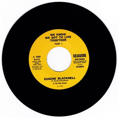 Eugene Blacknell - We Know We Got To Live Together / We Know We Got To Live Together part 2 - Seaside R-4112
