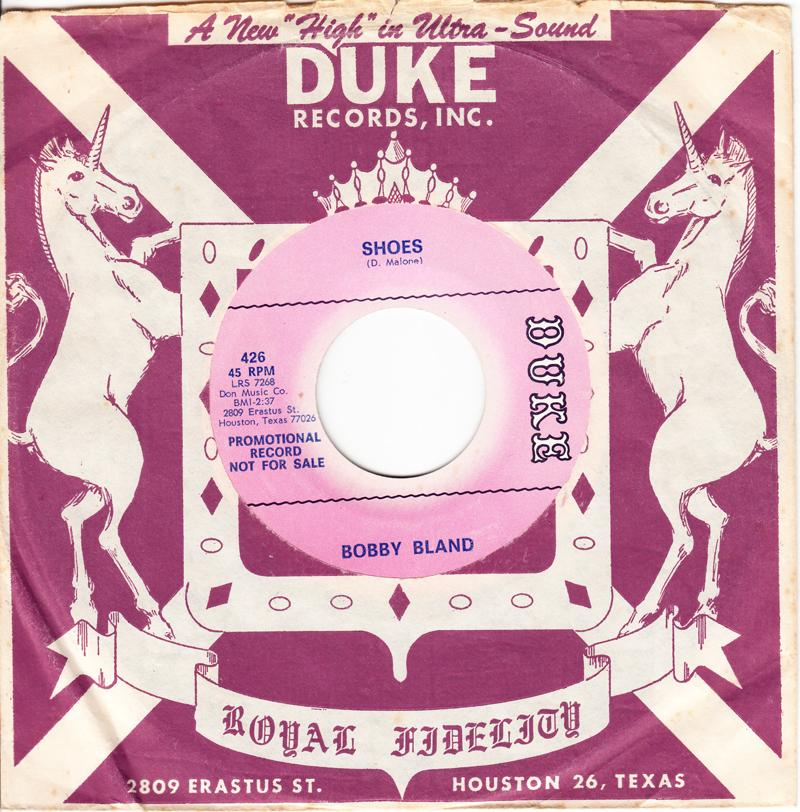 Bobby Bland - Shoes / A Touch Of The Blues - Duke 426 DJ