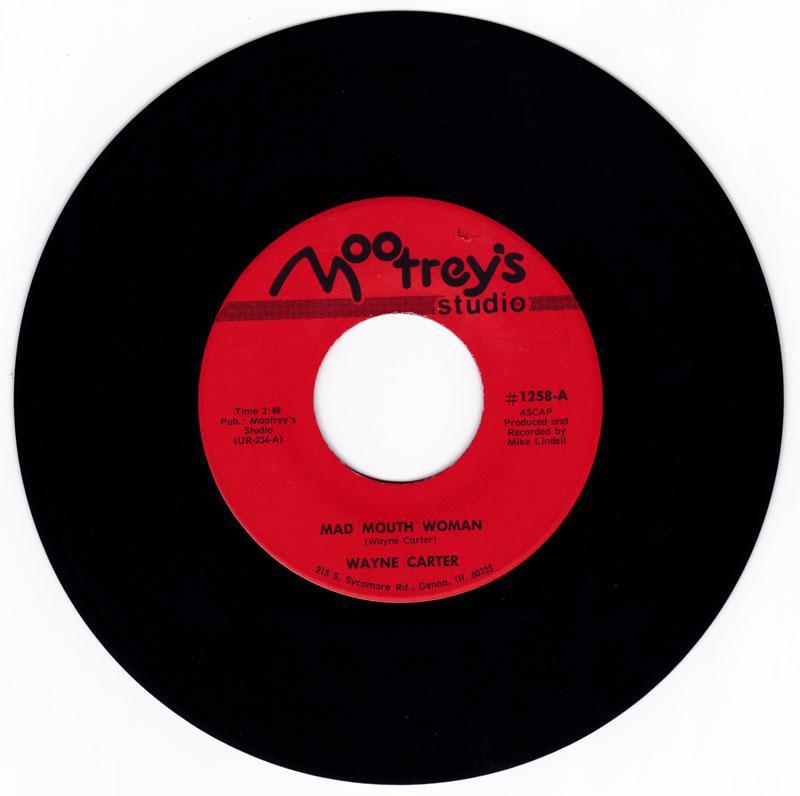 Wayne Carter - Mad Mouth Woman / Wahoo, Wahoo, Wahoo - Mootrey's 1258