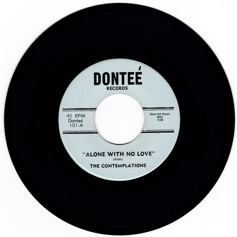 Contemplations - Alone With No Love / same: instrumental - Dontee101