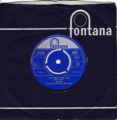 Kiki Dee - On A Magic Carpet Ride /  Now The Flowers Cry - Fontana TF 983