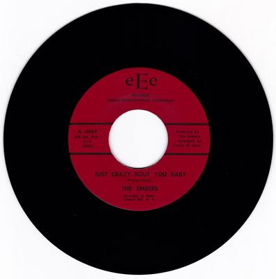 Embers - Just Crazy About You Baby / We've Come A Way Together - EEE 0069