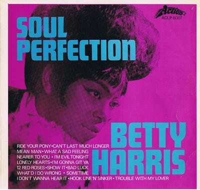 Betty Harris - Soul Perfection / 1969 British press- Action ACLP 6007