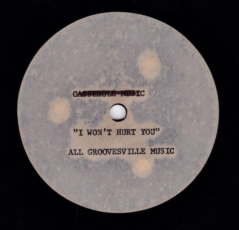 Eddie Holiday & Joey Kingfish - I Won't Hurt You Anymore / blank - Groovesville Music 10