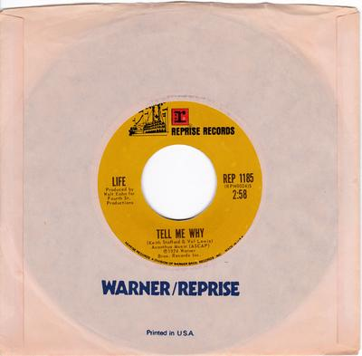 Life - Tell Me Why / That's Life - Reprise REP 1185