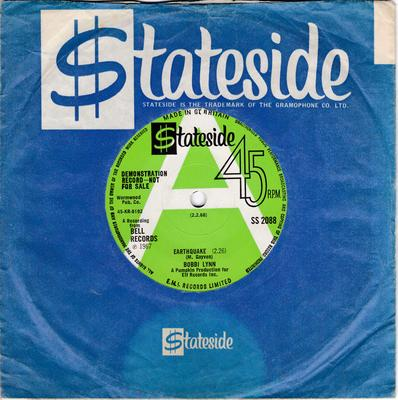 Bobbi Lynn - Earthquake / Opportunity Street - Stateside SS 2088 DJ