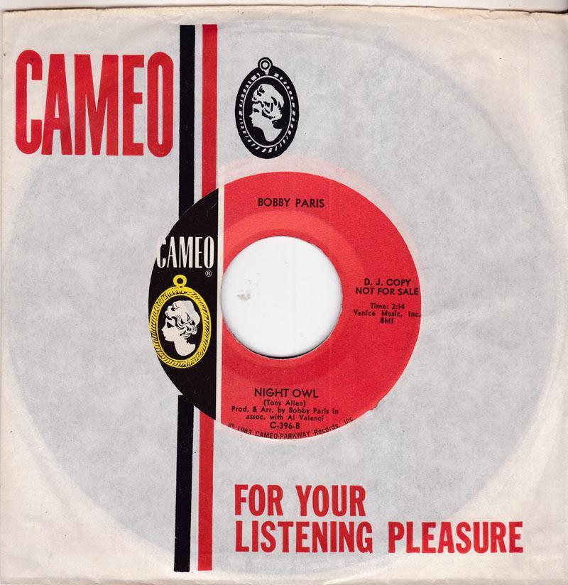 Bobby Paris - Night Owl / Tears Of My Pillow - Cameo C-396 DJ