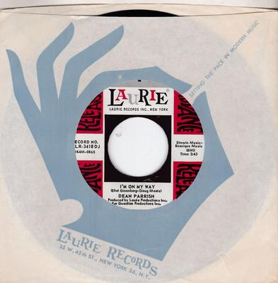 Dean Parrish - I'm On My Way / Watch Out! - Laurie LR 3418 DJ