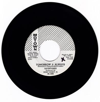 Satintones - Tomorrow & Always / A Love Than Can Never Be - Motown M-1006 DJ