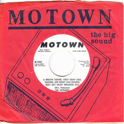 Supremes - A Breath Taking, First Sight Soul Shaking, One Night Love Making, A Next Day Heart Breaking Guy / ( The Man With The ) Rock And Roll Banjo Band - Motown M 1044 DJ