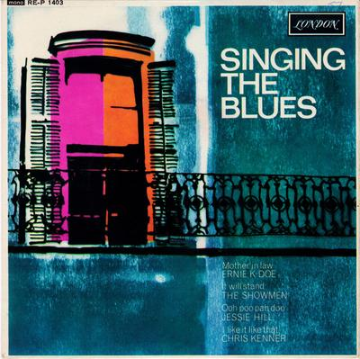 Various Artists - Singing The Blues / 1963 UK 4 track EP with cover - London REP 1403